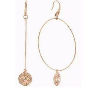 Michael Kors Rose Gold Hoop charm earrings